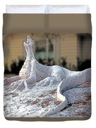 Snow Dragon Duvet Cover