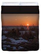 Snow Dune Sunset Seaside Park Nj Duvet Cover