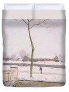 Snow Effect Effet De Neige Pastel On Paper C. 1880-1885 Duvet Cover