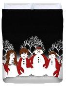Snow Family 2 Square Duvet Cover