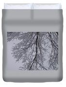 Snow Frosted Branches Duvet Cover