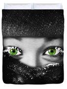 Snow Girl Square Duvet Cover