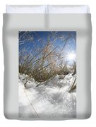 Snow Grass Duvet Cover