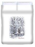 Snow-img-2174-merry Christmas Duvet Cover