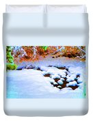 Snow In Color Duvet Cover