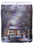 Snow In Silverado Dr Duvet Cover