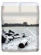 Snow In Surrey England Duvet Cover