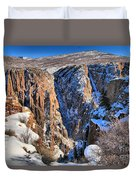 Snow In The Black Canyon Duvet Cover