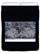 Snow In The Valley Duvet Cover
