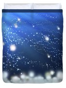 Snow In The Wind Duvet Cover