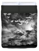 Snow Is In The Air Bw Duvet Cover