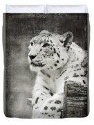 Snow Leopard 2 Duvet Cover