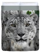 Snow Leopard 5 Duvet Cover