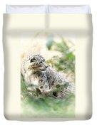 Snow Leopard Pose Duvet Cover