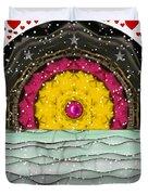Snow Love Pop Art Duvet Cover