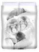 Snow Monkey Character Study Vi Duvet Cover