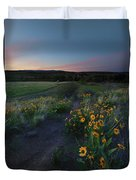 Snow Mountain Trail Duvet Cover