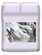 Snow On Pine Needles Duvet Cover
