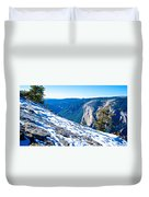 Snow On Sentinel Dome In Yosemite Np-ca Duvet Cover