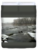 Snow Rapids Duvet Cover