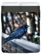 Snow Raven Duvet Cover