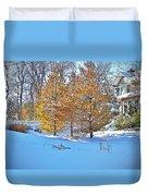 Snow Scene Duvet Cover