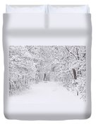 Snow Scene Tree Branches Duvet Cover