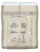 Snow Shoe Attachment For Bicycles Patent 1896 Duvet Cover