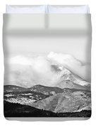 Snow Storm On The Twin Peaks Longs And Meeker Duvet Cover