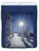 1m4882-snow Laden Tree Sunburst Duvet Cover