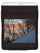 Snow Sunset Duvet Cover