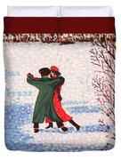 Snow Tango Duvet Cover