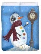 Snow Time Duvet Cover