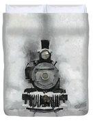 Snow Train Duvet Cover