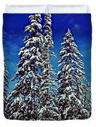 Snow Trees Duvet Cover