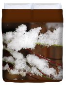 Snow Twig Abstract Duvet Cover