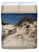 Snow White Dunes Duvet Cover