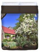Snowball Tree In The Garden Duvet Cover