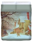 Snowballing At Tiddlington Duvet Cover