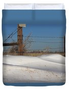 Snowbank On A Country Road Duvet Cover by Robert D  Brozek