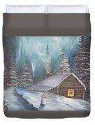 Snowbound Holiday Duvet Cover
