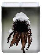 Snowcapped Coneflower Duvet Cover