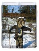Snowcapped Scarecrow Duvet Cover