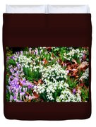 Snowdrops And Crocuses Duvet Cover