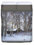 Snowed Cabin Duvet Cover