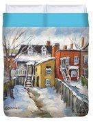 Snowed In Yards By Prankearts Duvet Cover