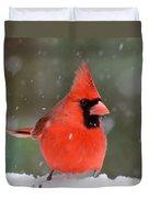 Snowflake Cardinal Duvet Cover