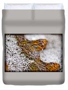 Snowflake On Rust Duvet Cover