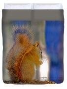 Snowflake Squirrel At Sunset Duvet Cover