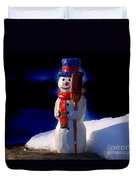 Snowman By George Wood Duvet Cover